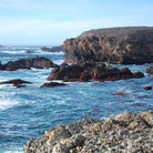 Picture - The rocky coastline of Sand Hill Cove at Point Lobos.