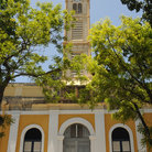 Picture - A church tower in Pointe-à-Pitre.
