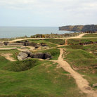Picture - An old German bunker complex at Pointe Du Hoc.