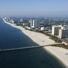 Picture - Aerial view over the beach front of Pompano Beach.