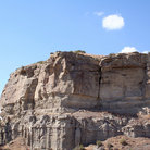 Picture - The cliff walls of Pompeys Pillar National Monument.