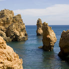Picture - Rock formations along the coast at Ponta da Piedade.