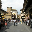 Picture - Shops along the Ponte Vecchio bridge in Florence.