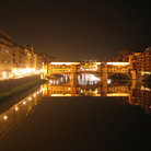 Picture - Ponte Vecchio in Florence at night.