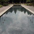 Picture - A reflecting pool at the Mighty Eighth Air Force Museum in Savannah.