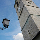 Picture - A church tower in Porrentruy.