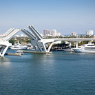 Picture - A bridge opening up for a boat at Port Everglades.