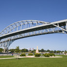 Picture - The Bluewater Bridge over the St. Clair River at Port Huron.