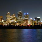 Picture - Skyline of Sydney harbor.