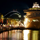 Picture - Night time at the harbor in Sydney.