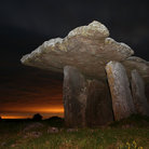 Picture - Evening at portal tomb at Poulnabrone.