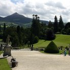 Picture - View of Sugarloaf Mountain from Powerscourt House in Dublin.