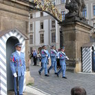 Picture - Changing of the guards at Prague Castle.