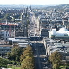 Picture - Aerial view of Princes Street in Edinburgh.