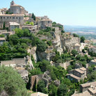 Picture - The hillside town of Gorde in Provence.