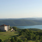 Picture - Aiguines and lake in Provence.