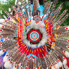 Picture - Traditional Wisconsin Woodland Powwow, part of Native American collection of Milwaukee Public Museum.