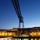 Picture - An evening view from below the Puente Colgante in Portugalete.