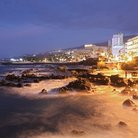 Picture - Waves hitting the rocks in the evening at Puerto de la Cruz.