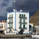 Picture - The harbor tower at Puerto de Mogan.