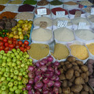 Picture - Food for sale in the market in Puerto Maldonado.