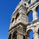 Picture - Ancient roman amphitheater in Pula.
