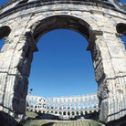 Picture - Arch of the Pula Amphitheatre.
