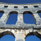 Picture - Detail of the amphitheatre in Pula.