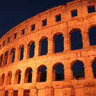 Picture - Night view of the Roman Amphitheatre in Pula.