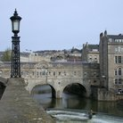 Picture - View of the Pulteney Bridge in Bath.