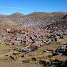 Picture - View over the city of Puno.