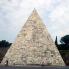 Picture - Ancient Egyptian pyramid monument in Rome.