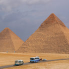 Picture - Road to the Pyramids of Giza.