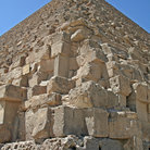 Picture - Close up view of a pyramid at Giza.