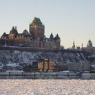 Picture - Chateau Frontenac in winter in Quebec.