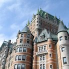 Picture - Detail of the Chateau Fontenac in Quebec City.