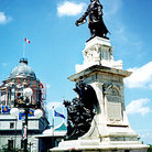 Picture - Champlain monument, Quebec City.