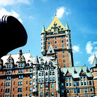 Picture - Cannon in front of Chateau Frontenac, Quebec City.