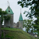 Picture - The stone walls of the Citadel in Quebec City.