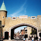Picture - Quebec City's Porte Saint-Jean.