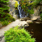 Picture - A waterfall in Queen Elizabeth Park in Vancouver.