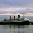Picture - The 1,019 foot long Queen Mary in Long Beach.