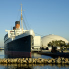 Picture - Queen Mary once one of the fastest ocean liners but now a museum and hotel in Long Beach.