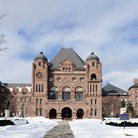 Picture - A winter view of Queen's Park in Toronto.