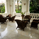 Picture - A sitting area at the famous Raffles Hotel in Singapore.