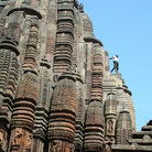Picture - Detail of the Raja Rani Temple in Bhubaneshwar City.