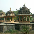 Picture - Chatris with cenotaphs of the Bundi rulers, Rajasthan.