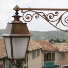 Picture - Street lamp and roof tops in Ramatuelle.