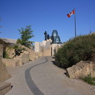 Picture - A pathway at the Reconciliation Memorial in Ottawa.