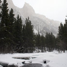 Picture - Winter scene of Lake Fork of the Rock Creek near Red Lodge.